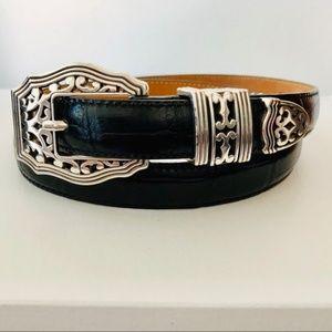 Brighton Italian Croco Leather Belt NWOT